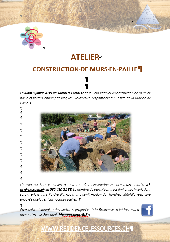 Construction murs en paille